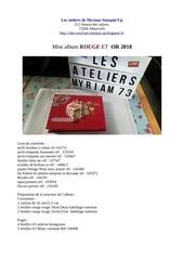 Fichier PDF liste materiel album rouge et or