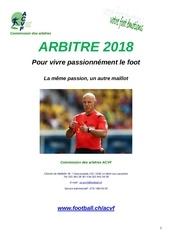 promotion arbitre 2018