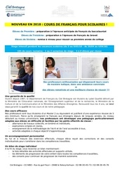 brochure francais scolaire 2018