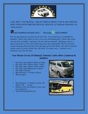 minivan rental penang