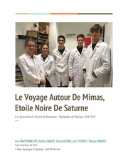 plaquette voyage autour de mimas etoile noire de saturne