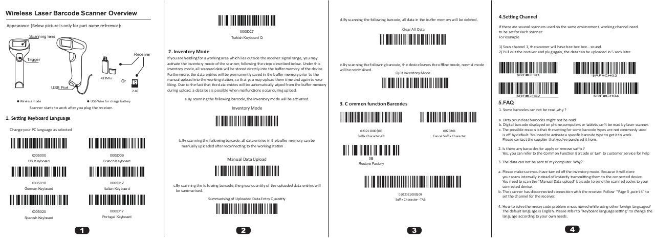Aperçu du document NT-F2 Wireless 1D Barcode Scanner Manual .pdf - page 1/1