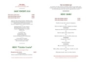carte du diner samedi 27 janvier