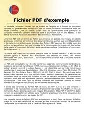 Fichier PDF exe