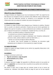 Fichier PDF guide pour la conduite du stage d initiation