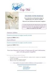 Fichier PDF decorer votre mariage