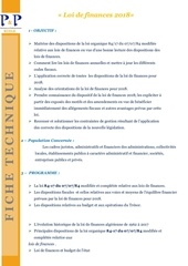ft 2017 loi de finance 2018