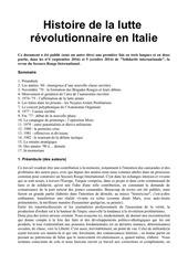 Fichier PDF histoire de la lutte revolutionnaire en italie
