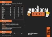 menu macadam bistrot