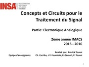 concepts et circuits pour le traitement du signal