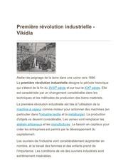premiere revolution industrielle vikidia