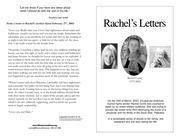 rachels letters