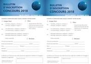 fiche d inscription concours 2018