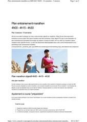 plan marathon 4h 3 seances