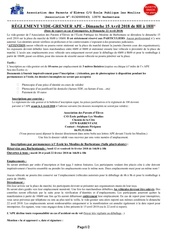 vide grenier 2018 reglement feuille inscription 1