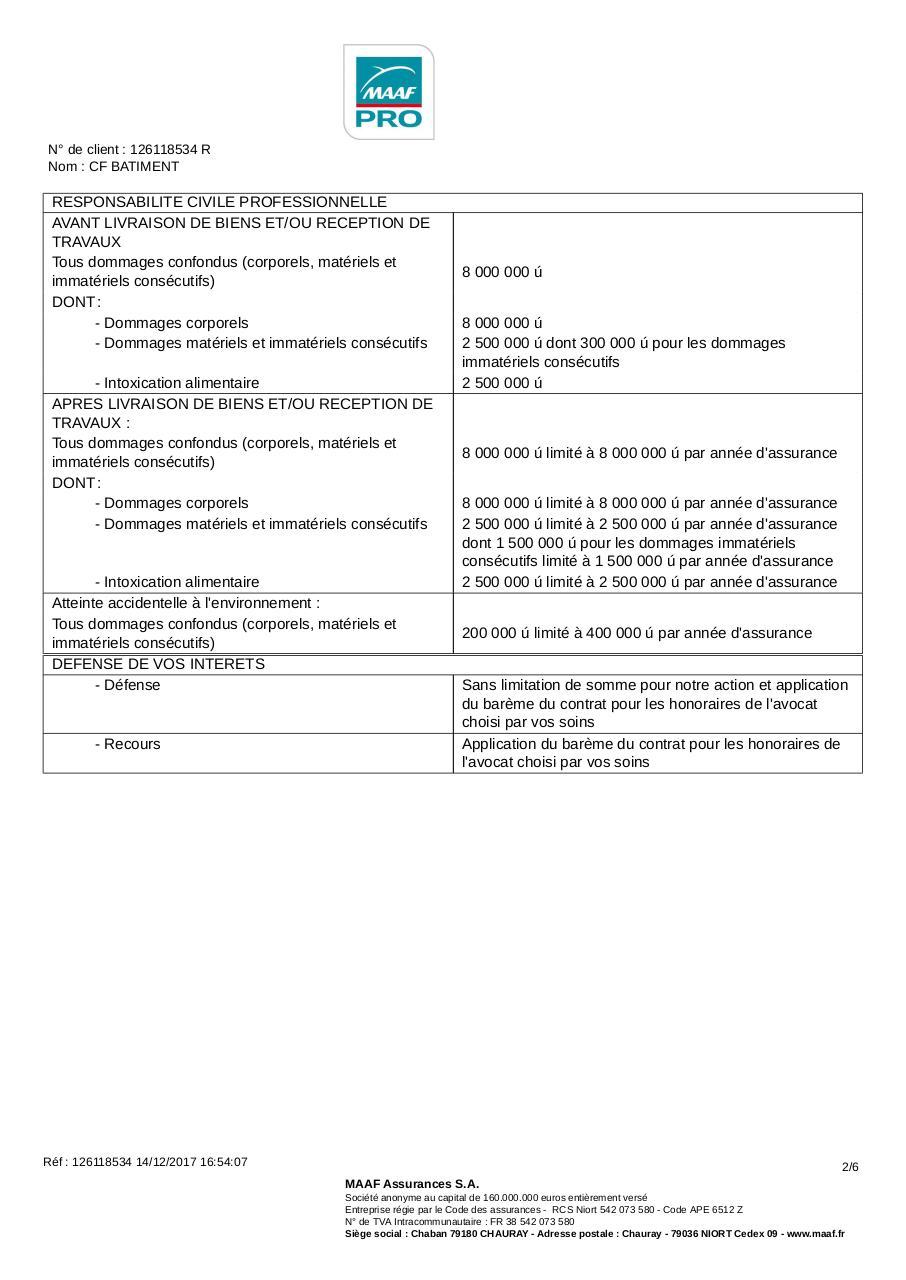 Attestation Rc Mce Nof 2 Par Administrateurs Fichier Pdf