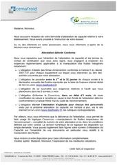 f75245 lettre de delivrance d attestation de capacite