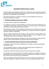 reglement interieur signe u arena 20171118
