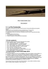 reglement officiel 2018 prix fondcombe
