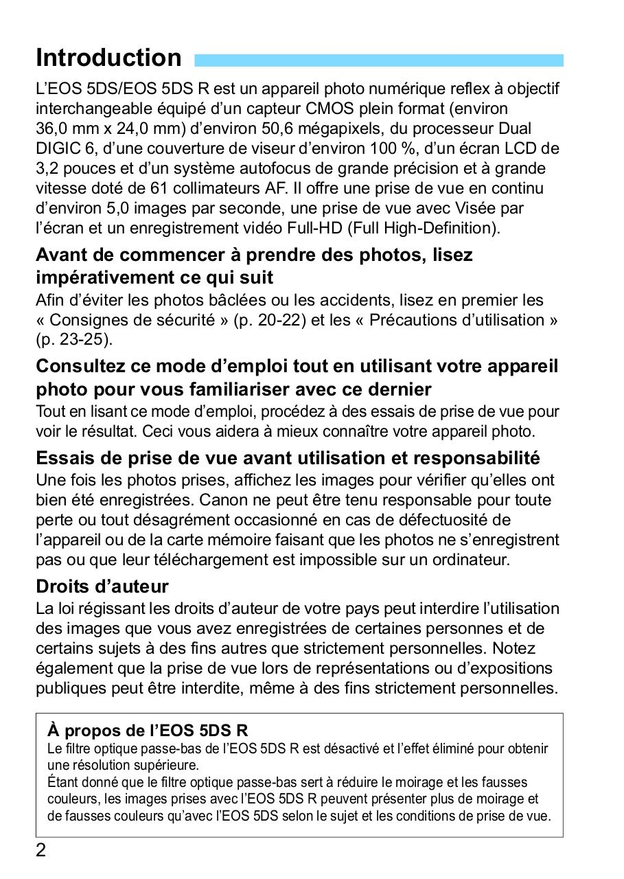 EOS_5DS_EOS_5DS_R_Manual_FR.pdf - page 2/534