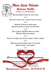 menu saint valentin 2018