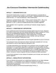 reglement castelnaudary chandeleur