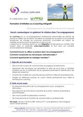formulaire initiation coaching communication et relation
