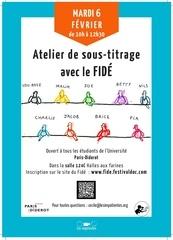 affiche sous titrage paris 7 paris diderot