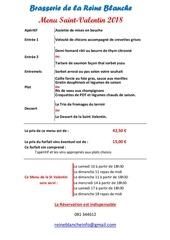 Fichier PDF menu saint valentin
