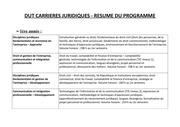 programme resume dut cj