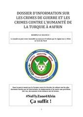 afrin file dossier sur les crimes de guerre de la turquie