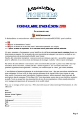 formulaire adhesion 2018