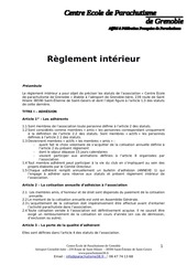 projetreglement interieur