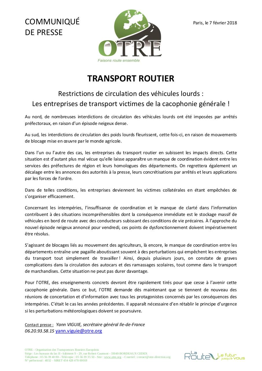 Aperçu du document CP Interdiction de circulation et désorganisation yv.pdf - page 1/1