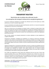 cp interdiction de circulation et desorganisation yv
