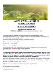 invitation azza cabana 2018