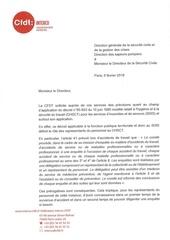 lettre dg pour competence chsct