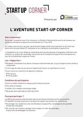 start up corner dossier de candidature