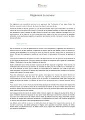 reglement version francaise 1