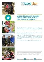 Fichier PDF encadrer enfants ados equitation