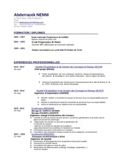 mon cv a jour pdf
