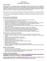 offre d emploi coordination intervention actions familles