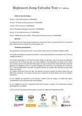 reglement jump calvados tour 2eme edition