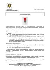 note legion d honneur le 16 01 2018