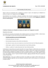 note medaille jeunesse et sports
