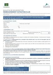 bulletin remboursement cotisation 2018