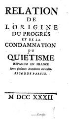 origine et condamnation du quietisme repandu en france2