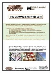 programme 2018 de mpf 54 55