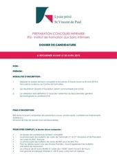 Fichier PDF dossier de candidature ifsi