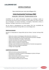 Fichier PDF offre d emploi assistant e technique r d plant care